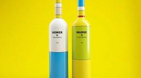 Simpsons inspired glass bottles