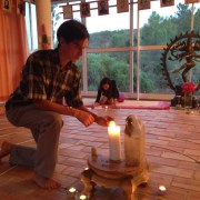 Spiral Walk Meditation Ceremony at Moinhos Velhos Juice Detox with Richard Brook