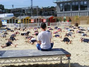 Creative Yoga with Richard Brook at the Roundhouse Beach Camden