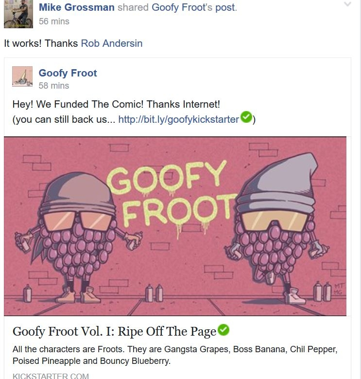 WSN Huge Fruits and Veggie NEWS:  GOOFY FRUITS IS FUNDED