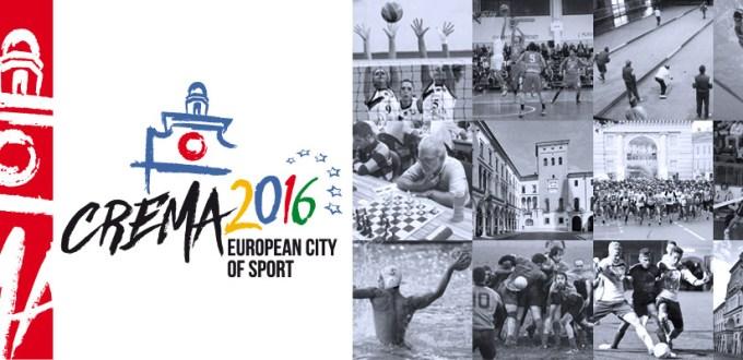 Composizione grafica Crema Città Europea dello Sport 2016