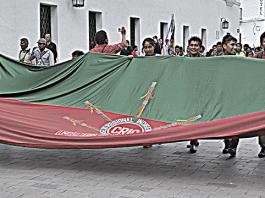 Bandera Indígena Consejo Regional Indigena del Cauca CRIC