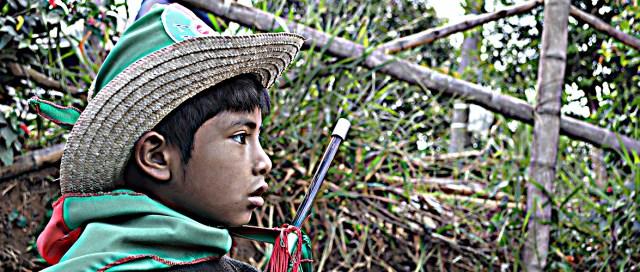 Niño Guardia Evento Diálogos la María Piendamó, Cauca Colombia Copyright Comunicaciones CRIC 2016