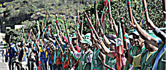 Guardia Indígena del Cauca Colombia - Evento Diálogos la María Piendamó, Cauca Colombia Copyright Comunicaciones CRIC 2016
