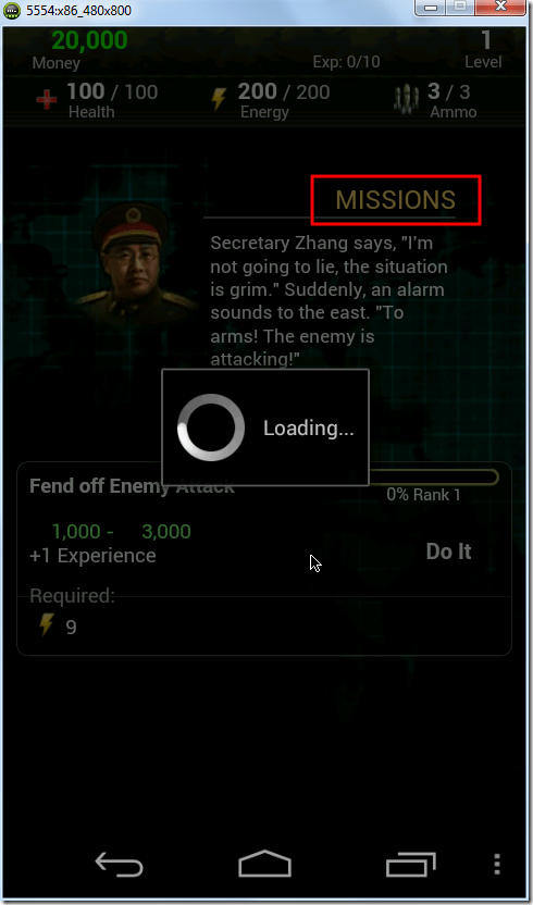 missions loading for details
