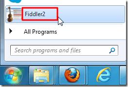 run the fiddler