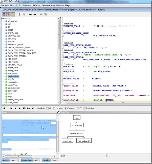 use antlrworks to do debug