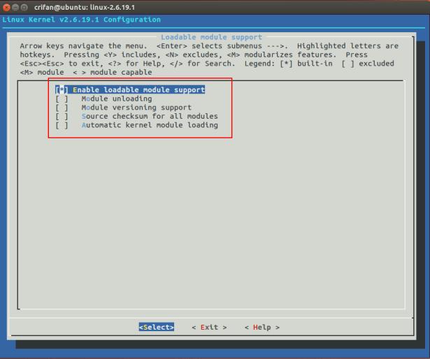 Loadable module support
