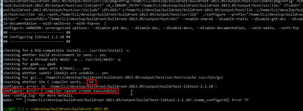 libtool configure error C compiler cannot create executables
