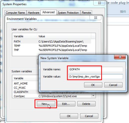 new environment variable gopath_thumb