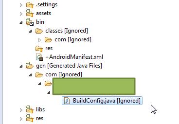 gen folder not auto generate r.java file