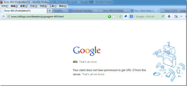 goagent Error 403 (Forbidden) 1 your client does not have permission to get url 2 from this server