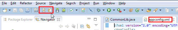 switch to xml file show two icon