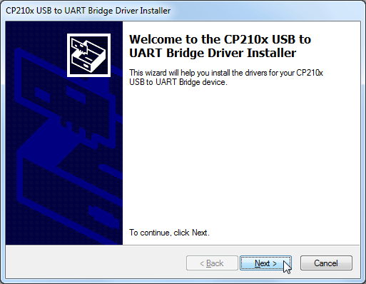 welcome to the cp210x usb to uart bridge driver installer