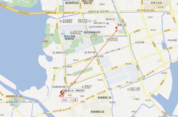 dushuhu lake school location in baidu map large
