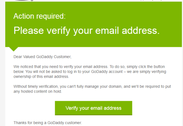 action required please verify your email address