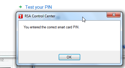 you entered correct smar card pin