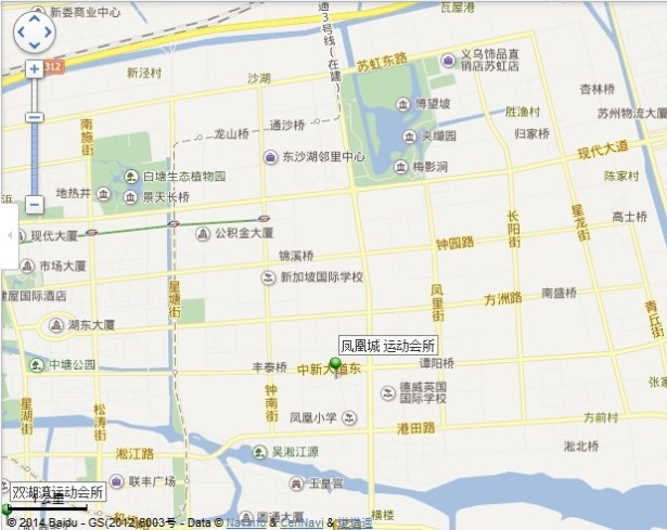 fenghuancheng sport center map location view middle