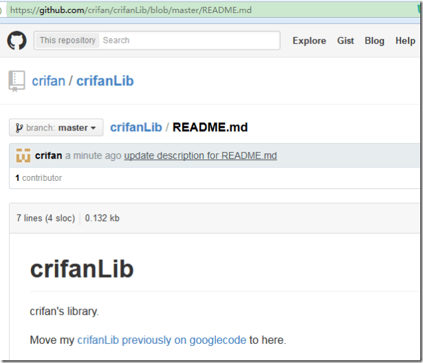 after edit readme.md effect on github