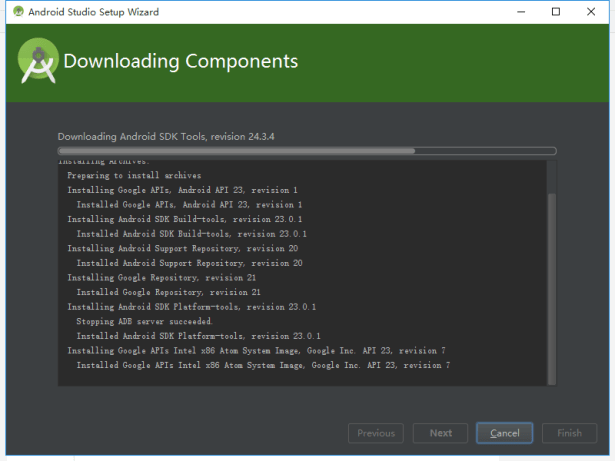 downloading many android sdk tools
