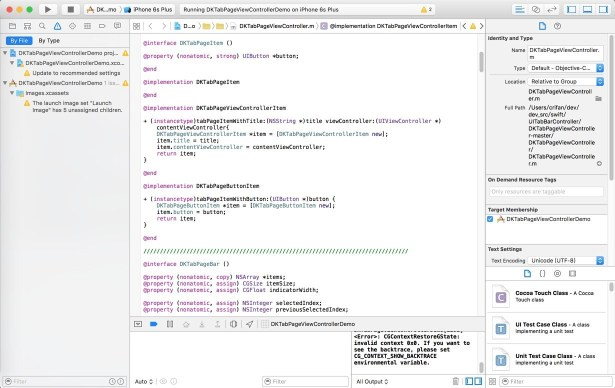 switch to another project of xcode