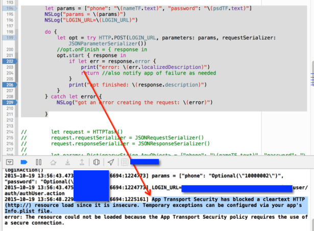 App Transport Security has blocked a cleartext HTTP http resource load since it is insecure