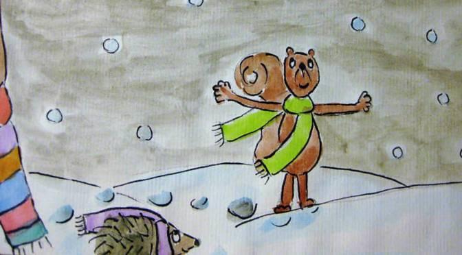lele si gusta la neve che scende