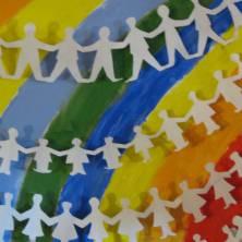quadro che rappresenta l arcobaleno della pace
