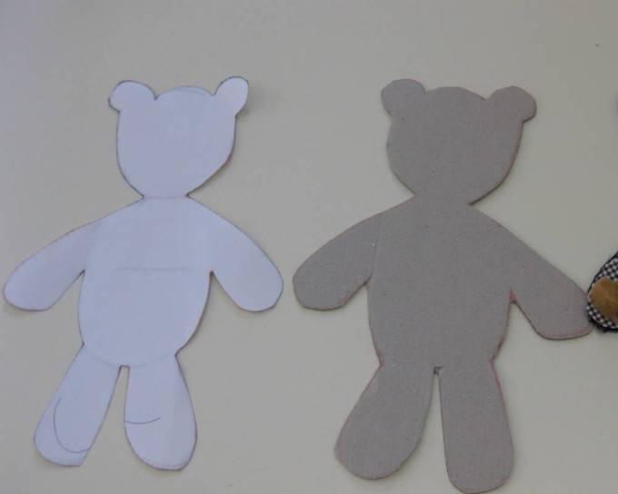 sagome per la realizzazione di un orsetto