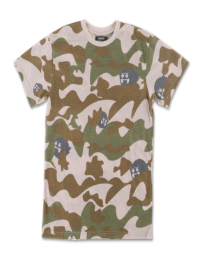 PINK DOLPHIN Ghost Camo Tee in Olive