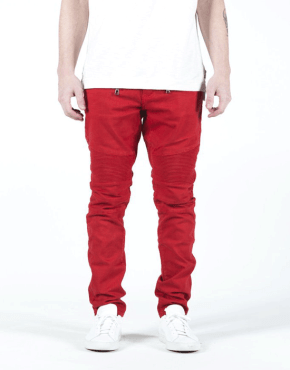 EMBELLISH NYC - Spencer Biker Denim - Red