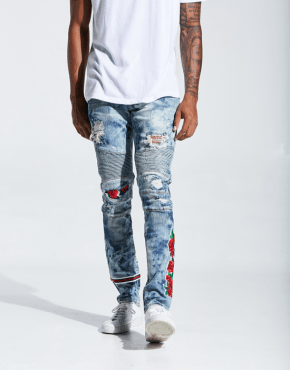 EMBELLISH NYC Costello Biker Denim
