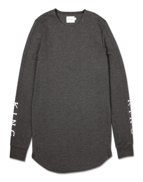 KING APPAREL Pitchford Lightweight Midline Sweatshirt - Black