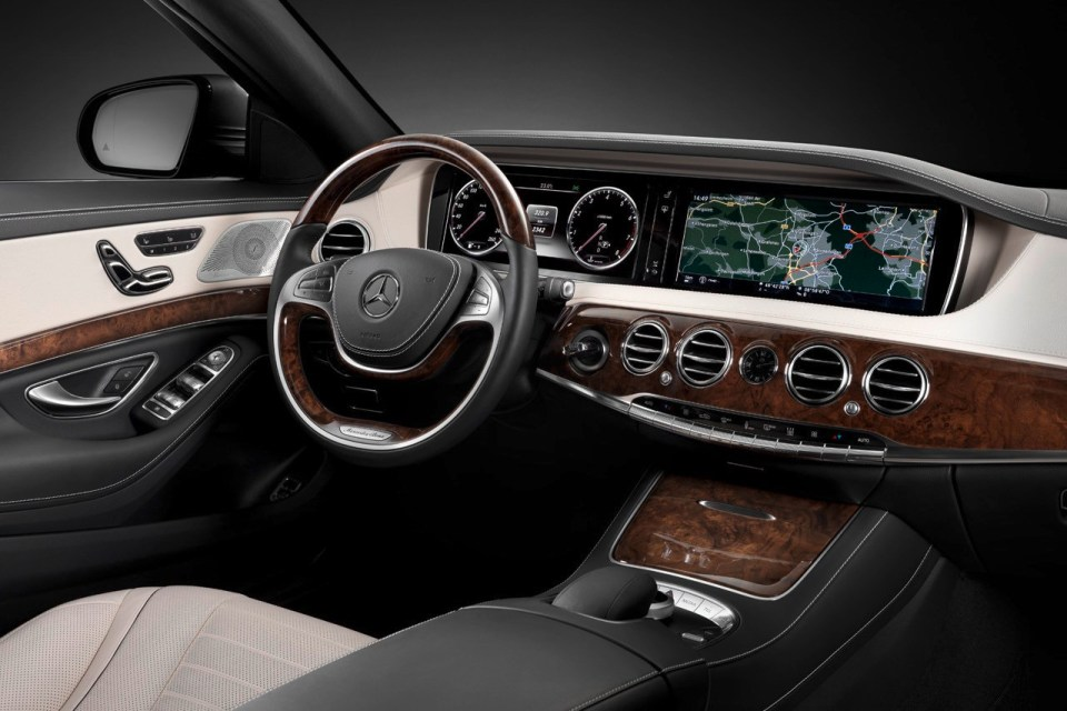 Imagine din interiorulunui Mercedes Benz S Class