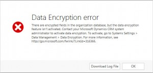 CRM 2013 Data Encryption - encryption not activated error
