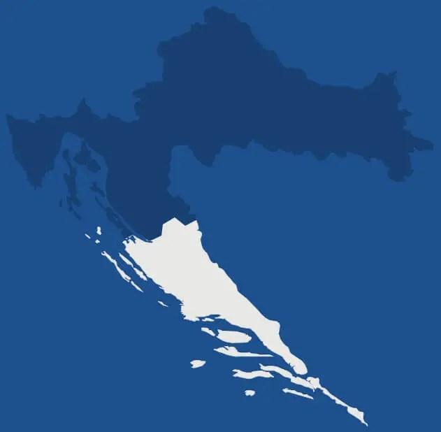 Dalmatie, région de Croatie