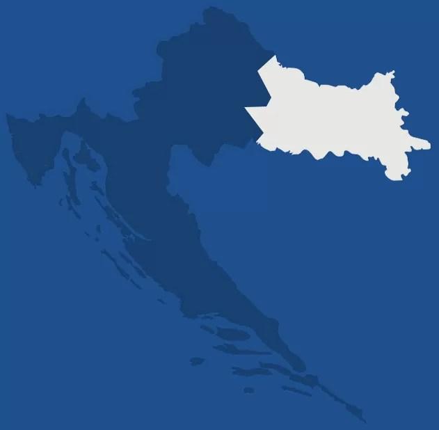 Slavonie, région de Croatie