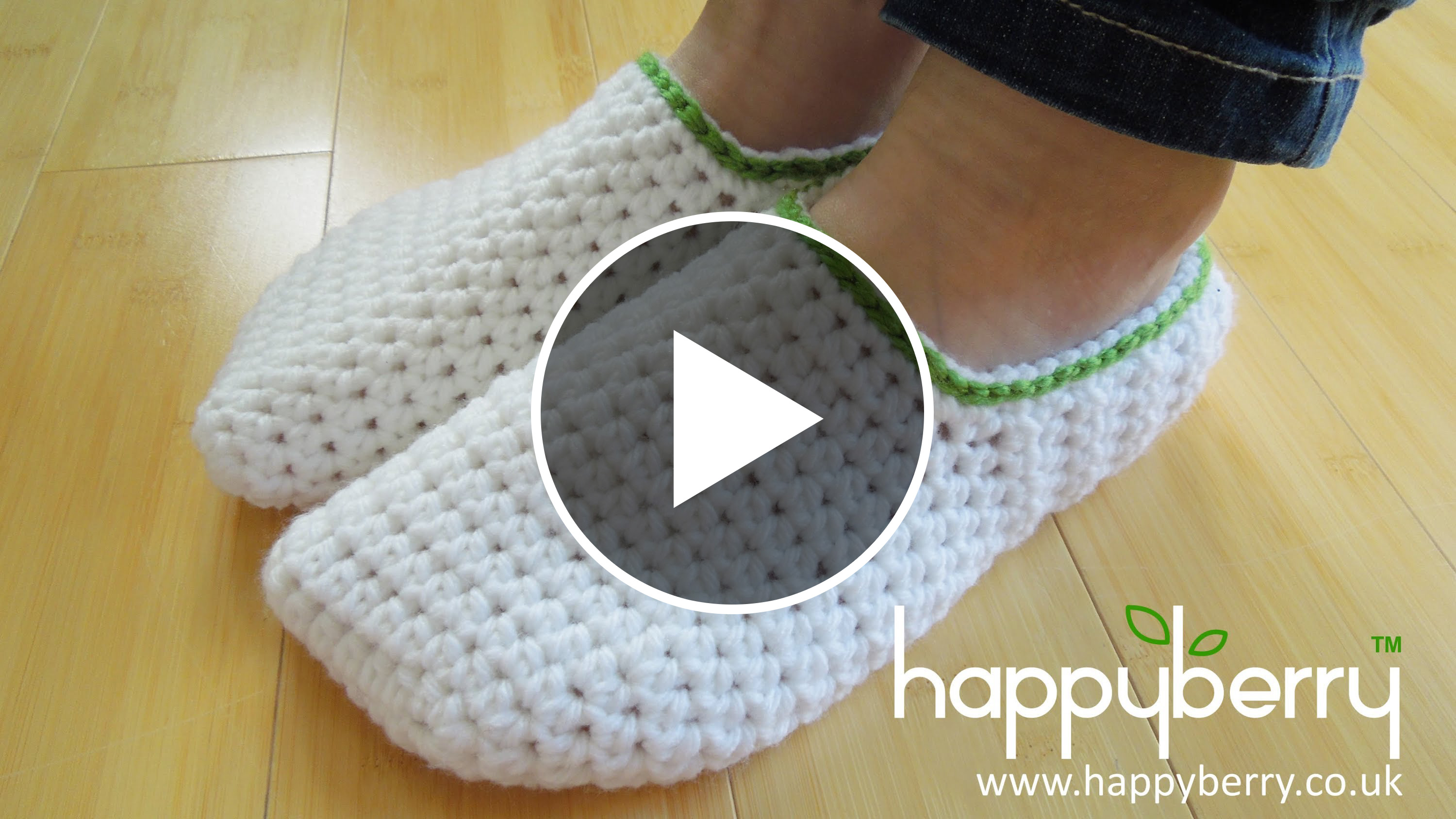 White Crochet Slippers - Video Tutorial Crochet And ...