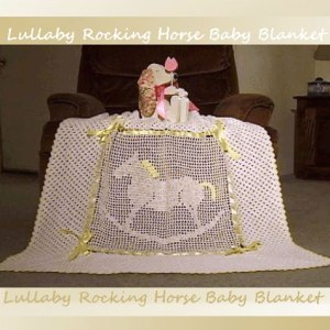 Lullaby Rocking Horse Baby Blanket