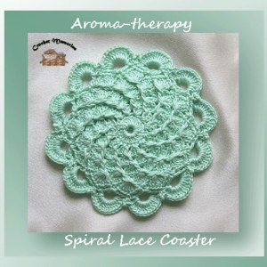 Aroma-therapy Spiral Lace Coaster