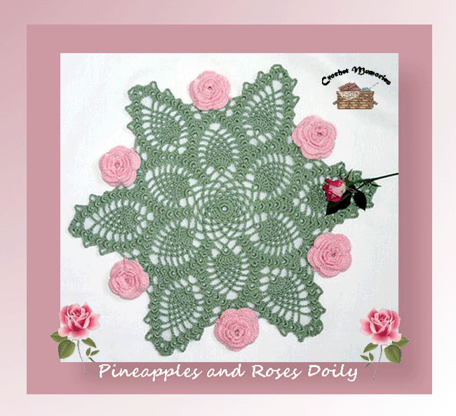 Pineapple and Roses Doily