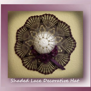 Shaded Lace Decorative Hat