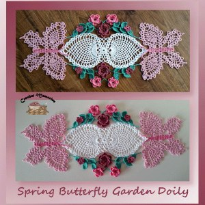 Spring Butterfly Garden Doily
