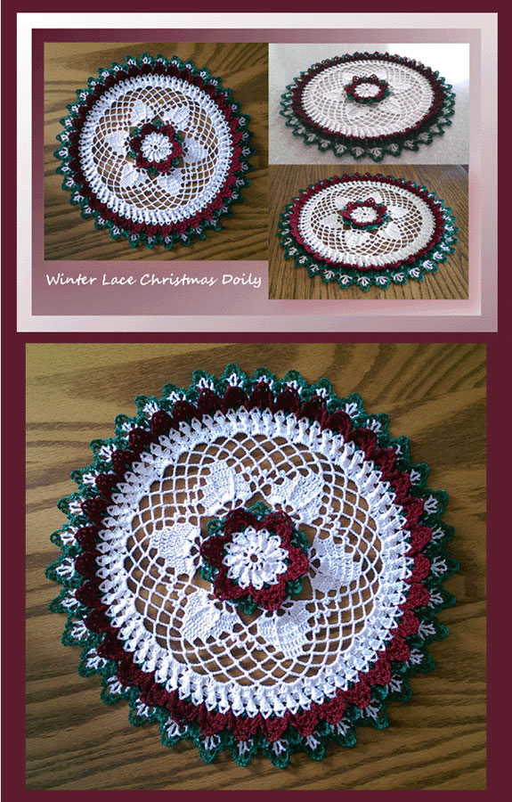 Winter Lace Christmas Doily 495 Crochet Memories