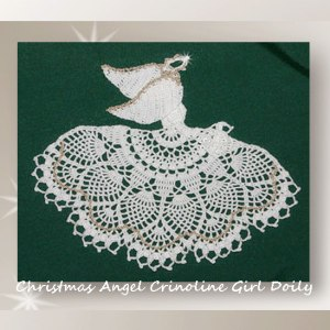 Christmas Angel Crinoline Girl Doily