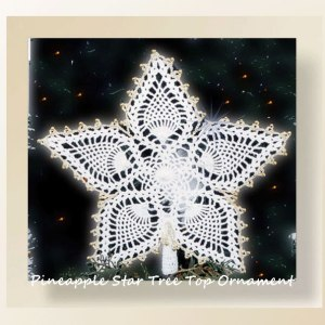 Pineapple Star Tree Top Ornament