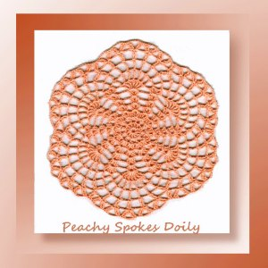 Peachy Spokes Doily