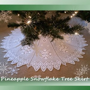 Pineapple Snowflake Tree Skirt