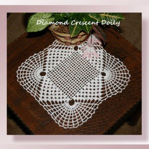 Diamond Crescent Doily