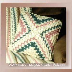 Victorian Raised Shell Pillow